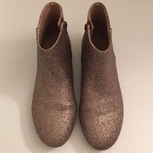 Zara Girls Pink Glitter Zip Up Boot